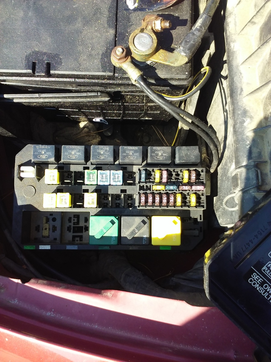 where is the fuel pump relay located on a 1998 ford contour diy 1998 Ford Contour Fuse Box Location don't have a manual 1998 ford contour fuse box location