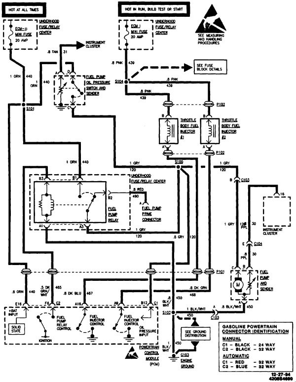 Schematic V on 1994 Chevrolet 1500 Wiring Diagram