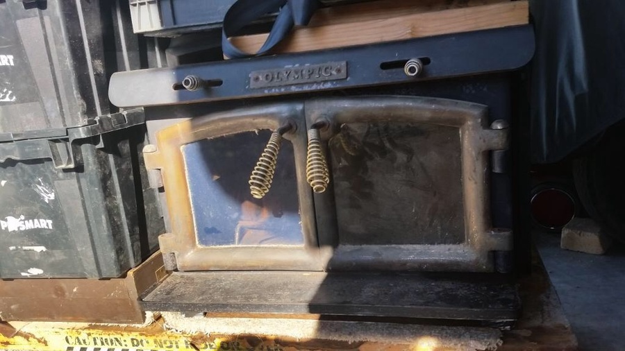 I Have An Olympic Wood Burning Fireplace Insert Its All Black With ...