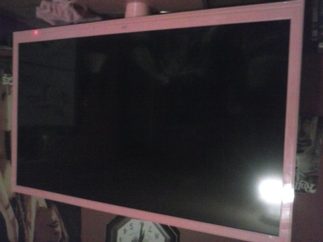 jvc flatscreen tv less than a month old black screen but still hear sound and screen appears to. Black Bedroom Furniture Sets. Home Design Ideas