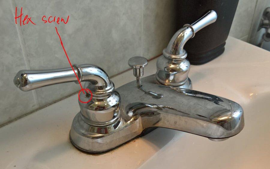 Leaking bathroom faucet stripped hex screw diy forums for My bathroom faucet is leaking