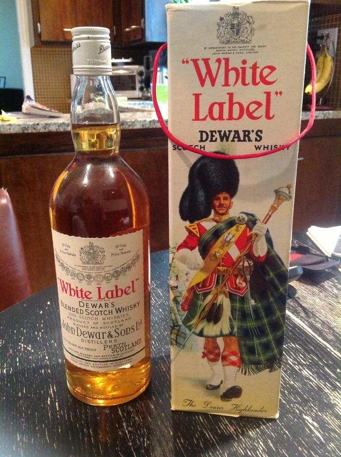 how to drink dewars white label
