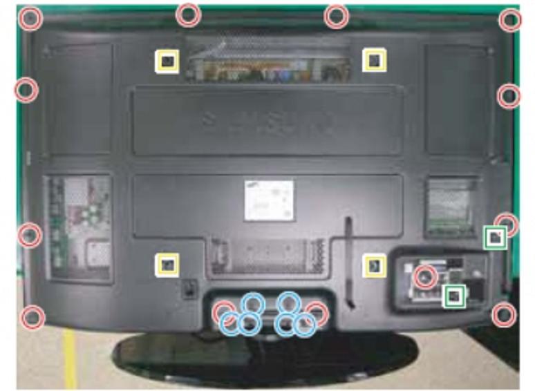 7 steps to remove the back cover of a plasma tv diy forums Back of Samsung Smart TV samsung plasma tv png