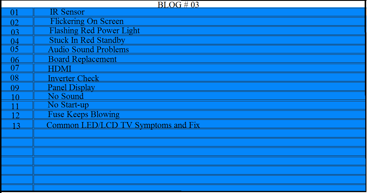 LED/LCD TV Troubleshooting Guide Part #3 | DIY Forums