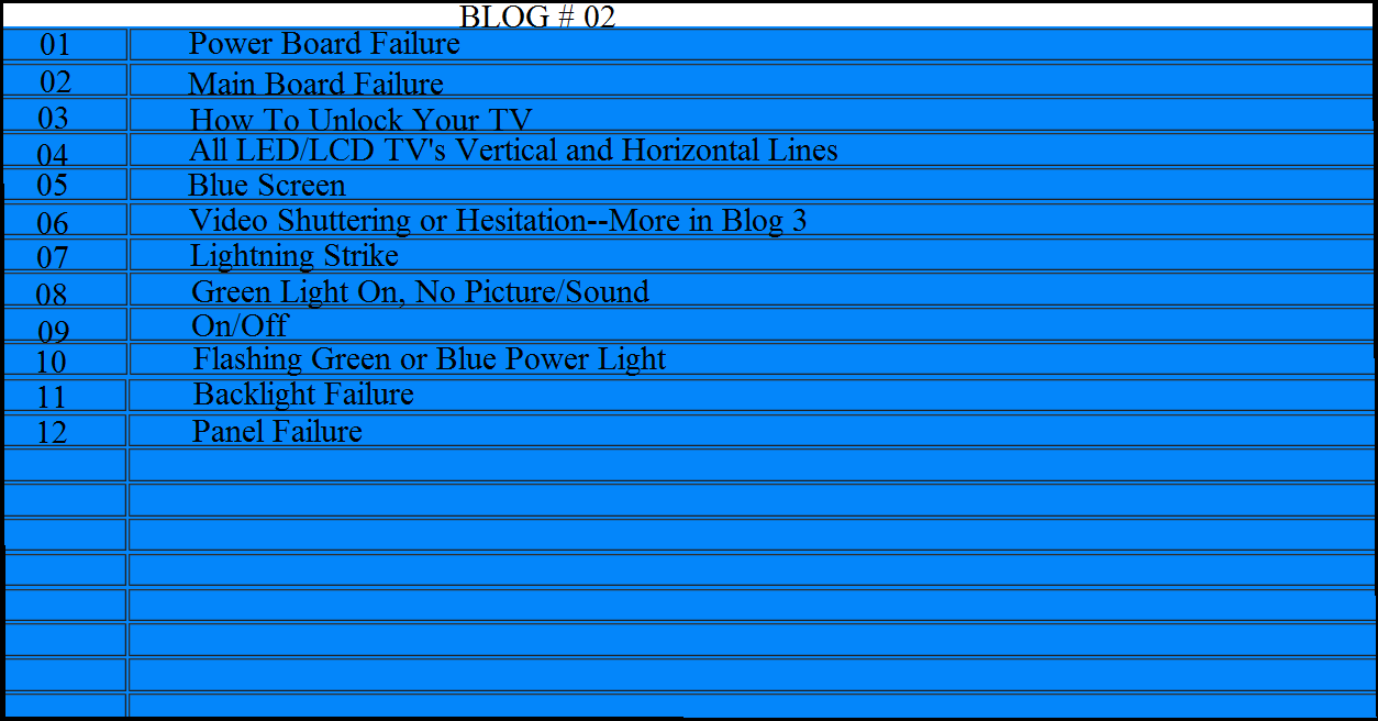 Led Lcd Tv Troubleshooting Guide Part 2 Diy Forums