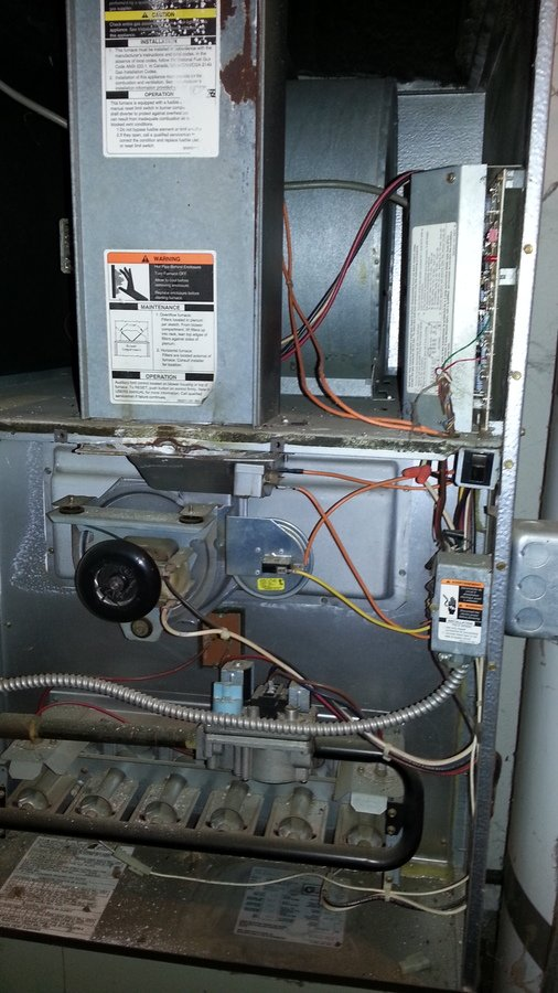 Furnace won 39 t ignite after power outage diy forums for Furnace blower motor hums but won t start