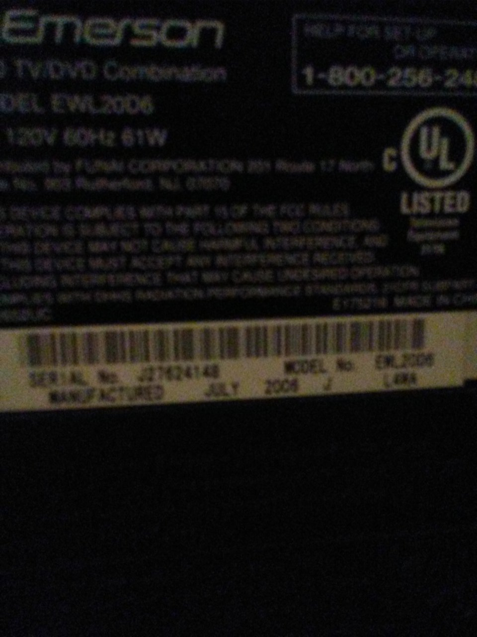 Emerson TV With DVD Player   DIY Forums