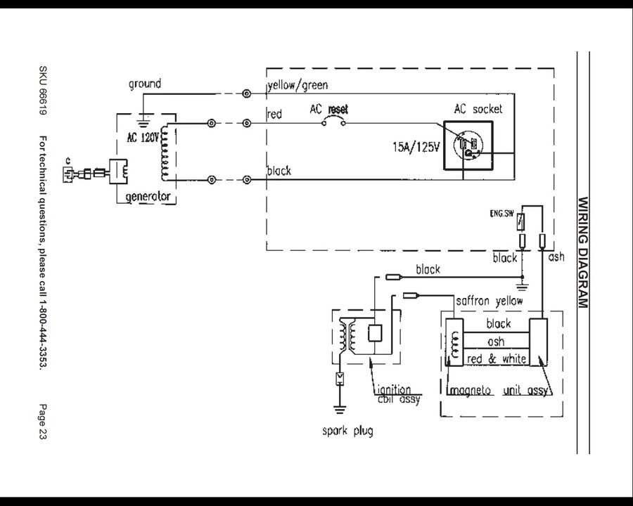 Where Ca I Find A Diagram For A 2HP Chicago Electric Generator 800