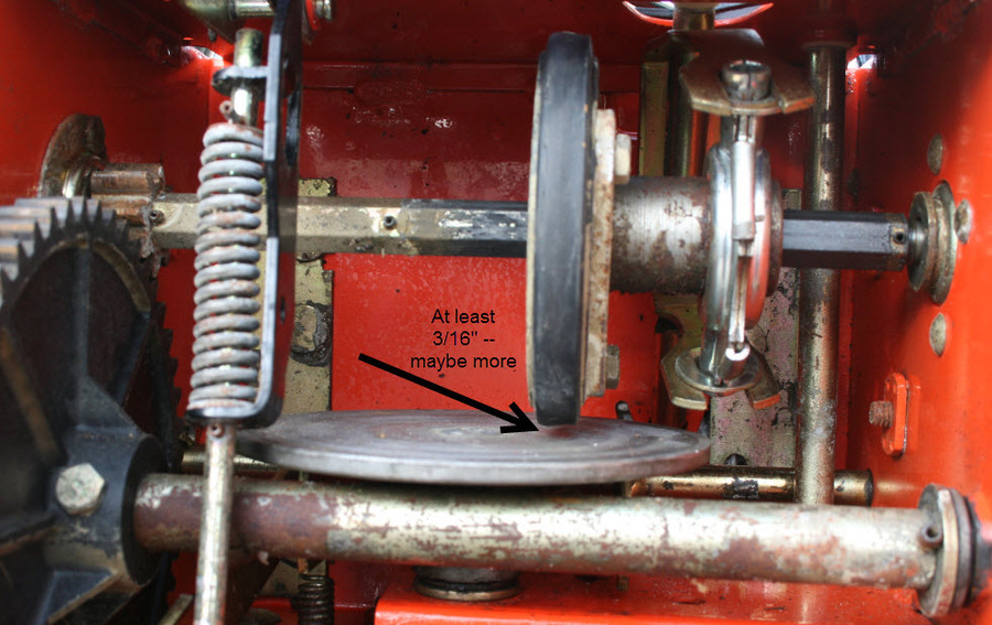 Friction Disk Not Touching V on Ariens Snow Blower Parts Diagram