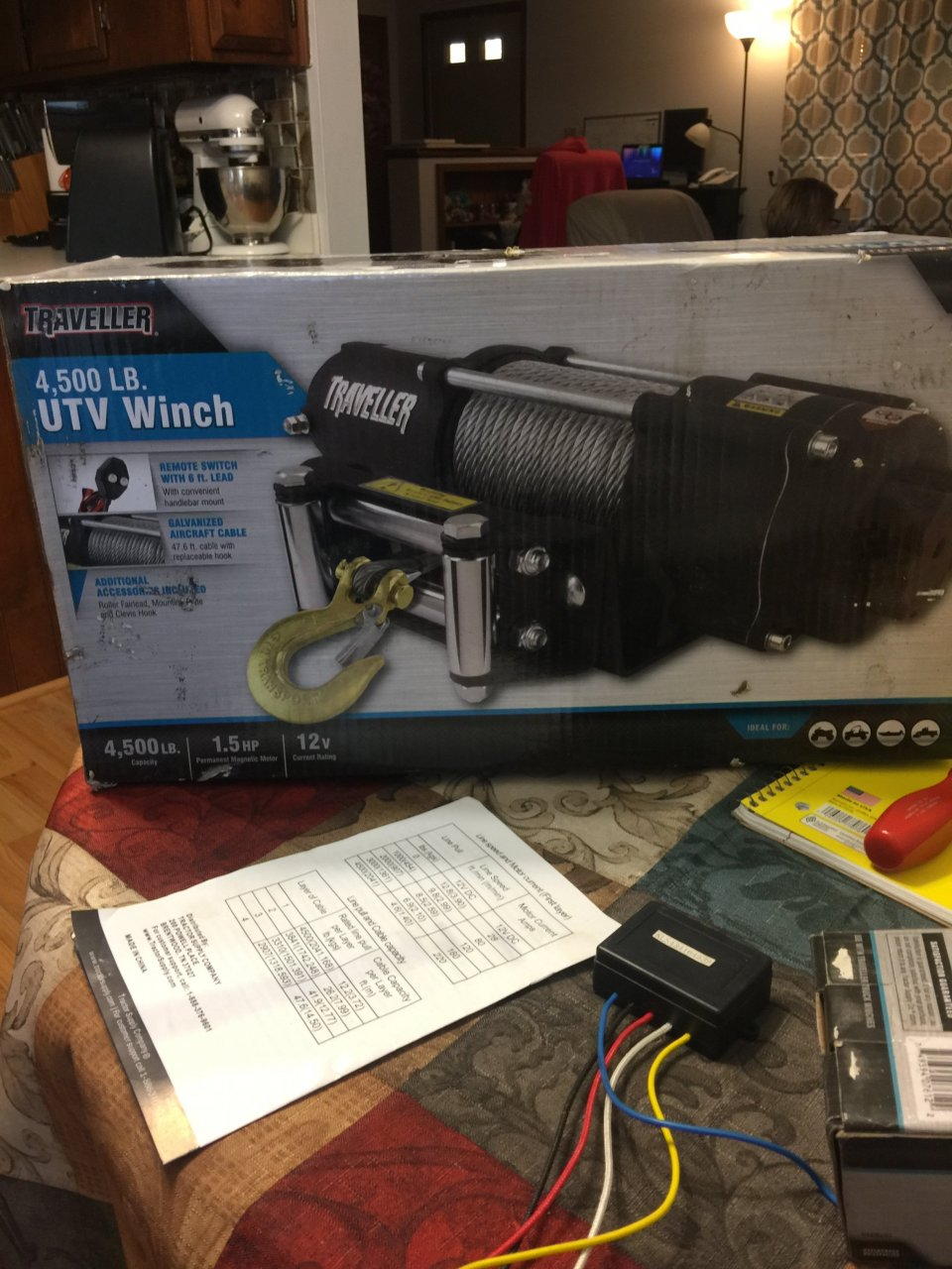 I have a traveller 4500 lb winch model # 1078311 and need to know how to  hook up a wireless remote control made by traveller model # 1078310 wiring  ...