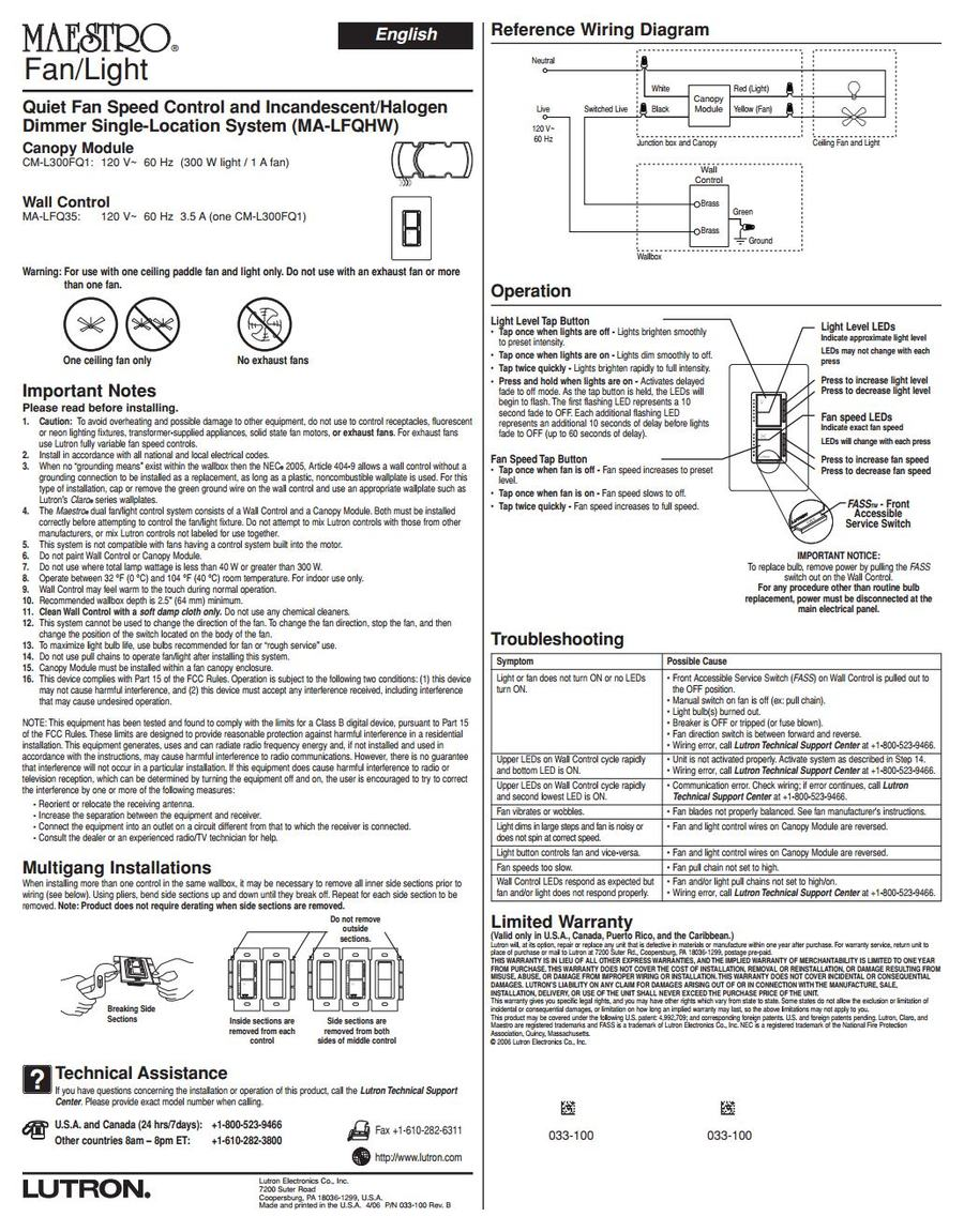 Lutro_Maestro_Switchjpg_Page1_v_1476401403 installing lutron maestro fan light wall switch for hunter lutron ma-lfqhw-wh wiring diagram at creativeand.co