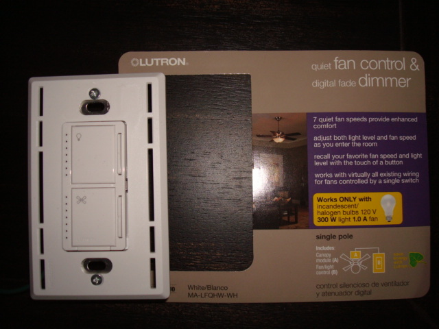 Installing Lutron Maestro Fan Light Wall Switch For Hunter
