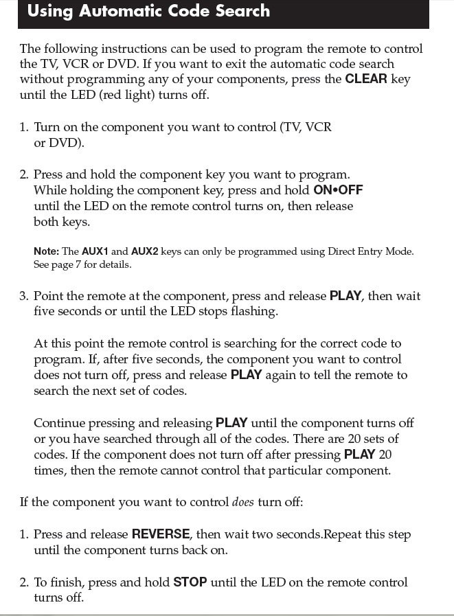 The Steps To Program My Rca Universal Controller To My Advent Tv/dvd