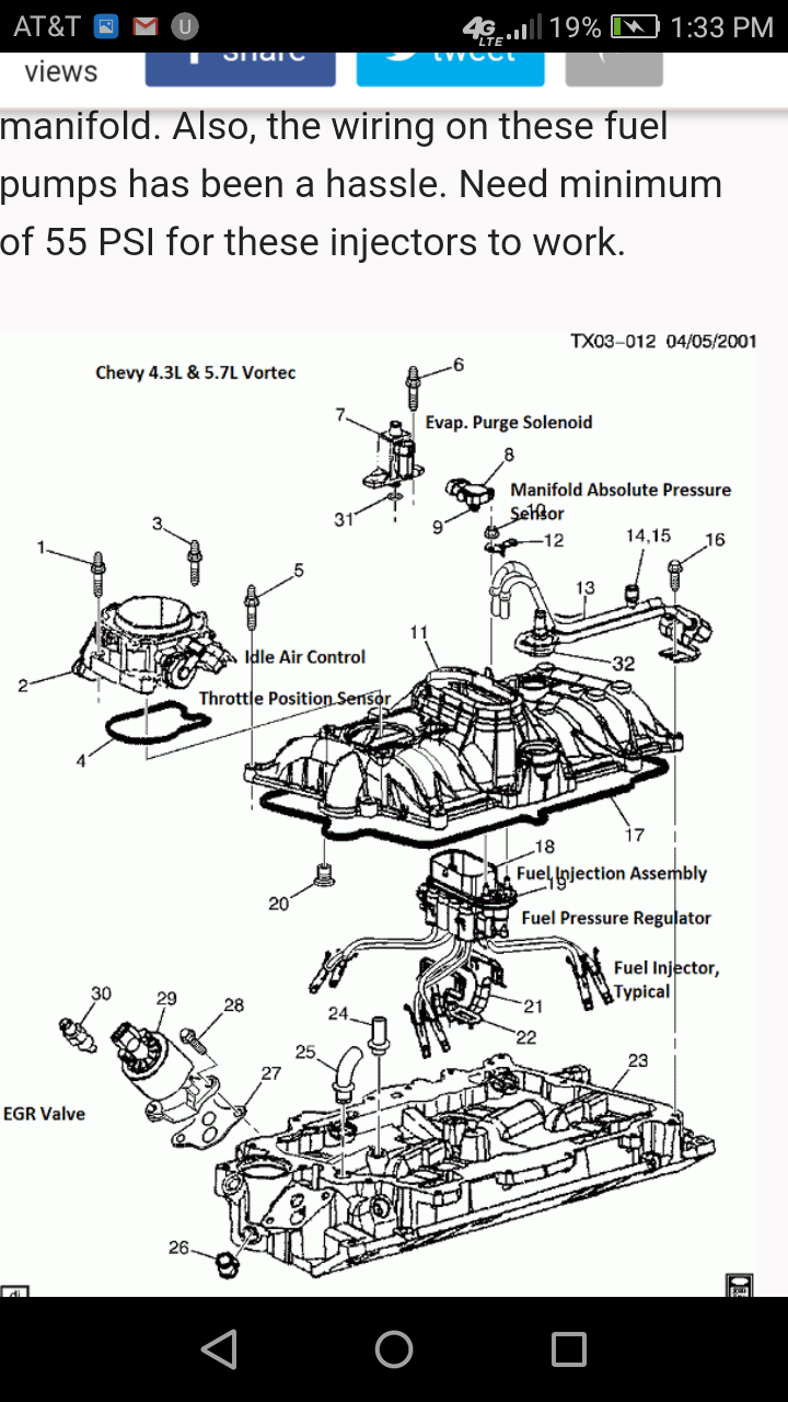 I Have A 96 S10 Blazer 4.3 Liter Vortec Four-wheel Drive I ...  S Injector Wiring Diagram on