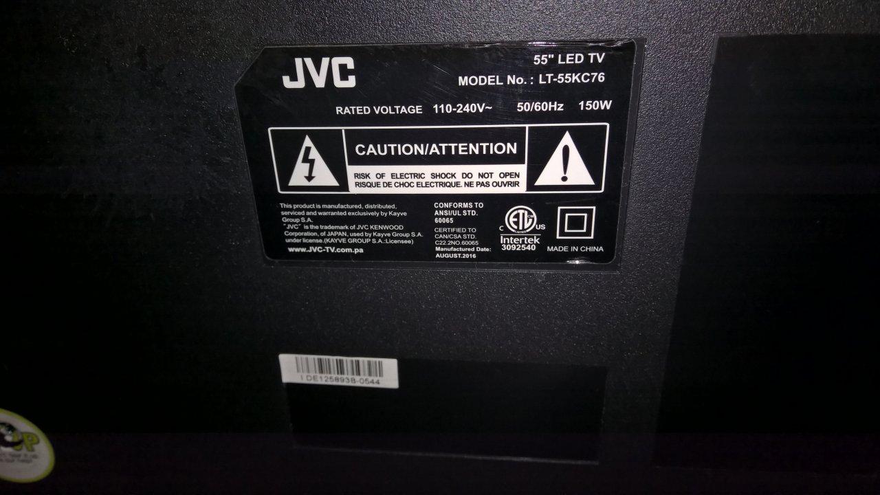 I Have A JVC LT-55KC76 55