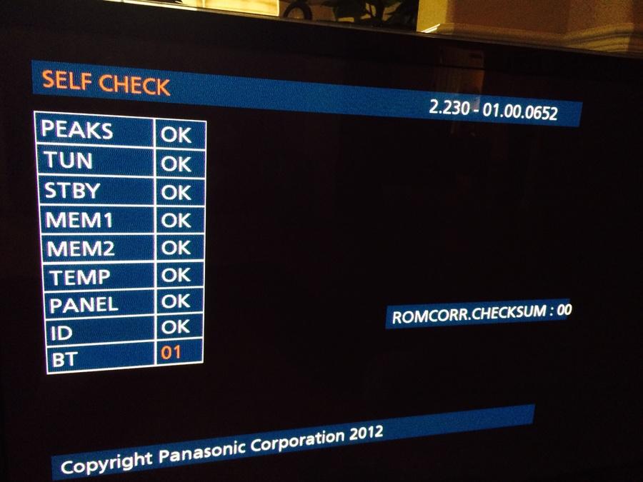 Panasonic Plasma Tv TC-P50XT50 Sound Goes Away In About An