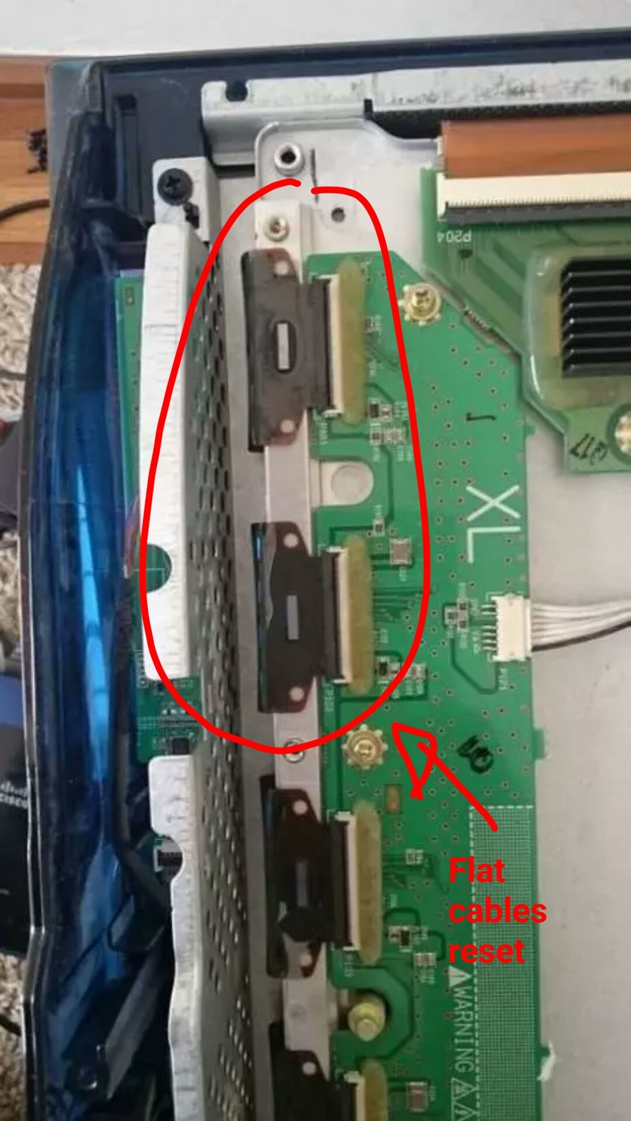 I Have An Lg Plasma It Has A Green Line Down The Center What 2005 50 Inch Tv Screen Circuit Boards In Back Of Work Goes All Into Removing Pane And Putting Together