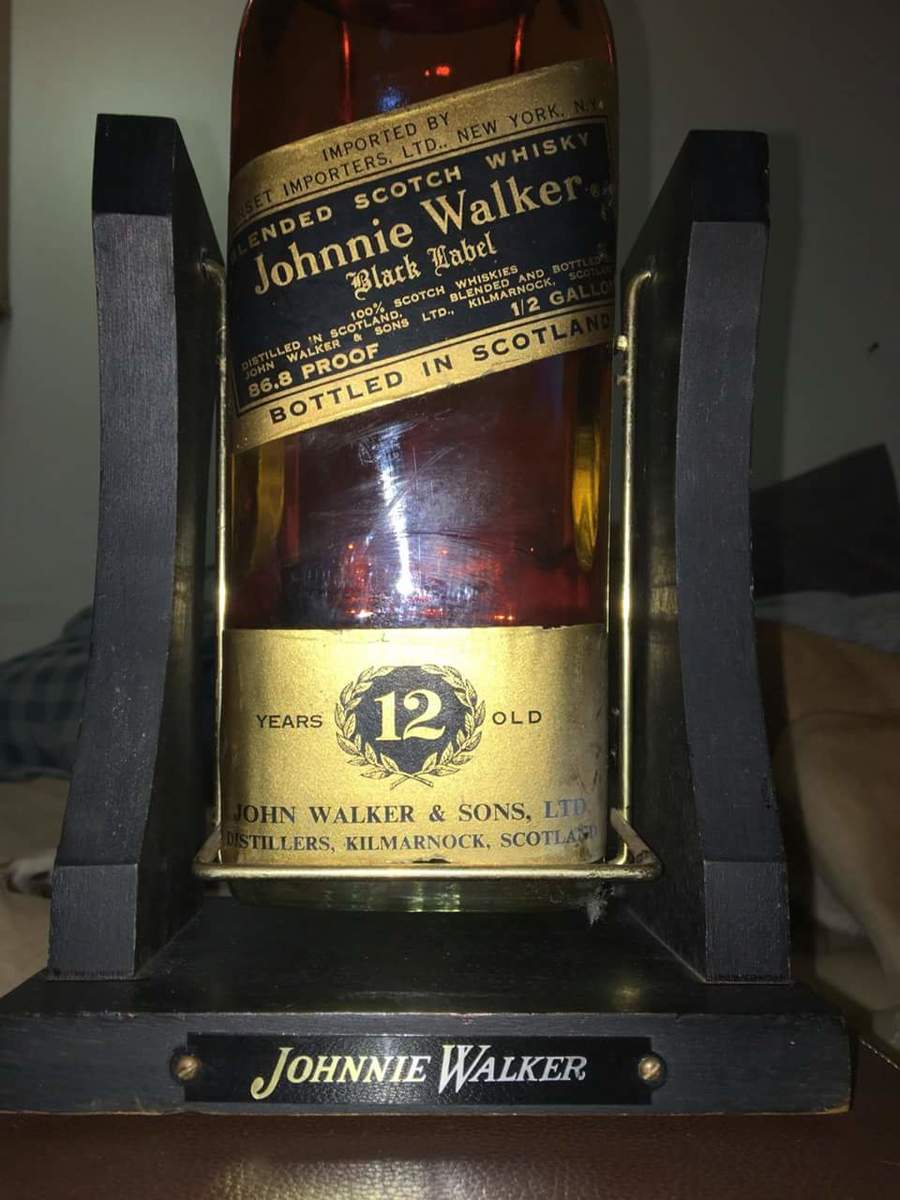 Johnnie Walker Black Half Gallon With Stand Please Help