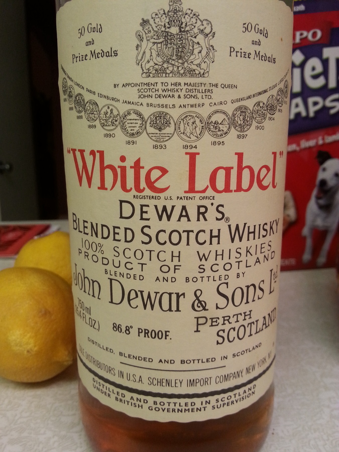 I Found An Old Bottle Of Dewars White Label In The Attic