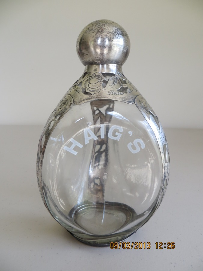 Value Of Empty Haig S Decanter Sterling Silver Frame