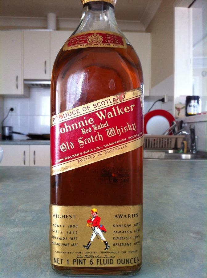 ff8277baa0570 Johnnie Walker Red Label Bottled In Australia