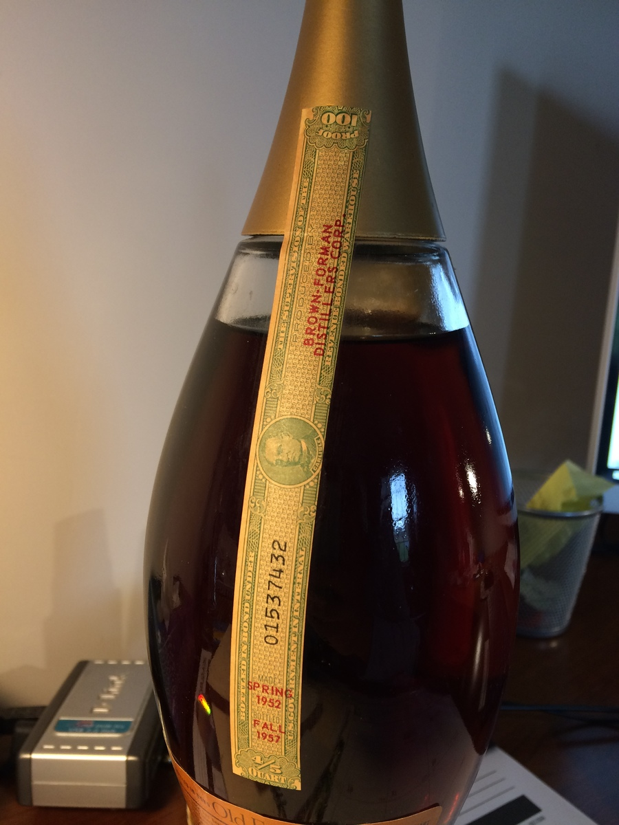 Value Of 1952 Old Forester Unopened Drinks Planet