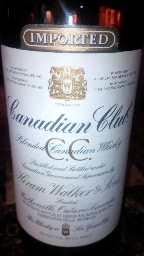 Canadian Club Whisky Hiram Walker Amp Sons Limited 1982 On