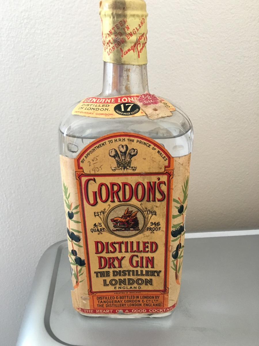1935 Unopened Bottle 1 5 Gal Gordon S Gin Value Drinks