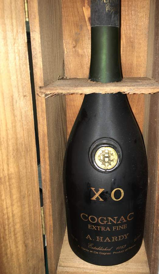 A Hardy 80 Proof Xo Cognac In Wooden Box Drinks Planet
