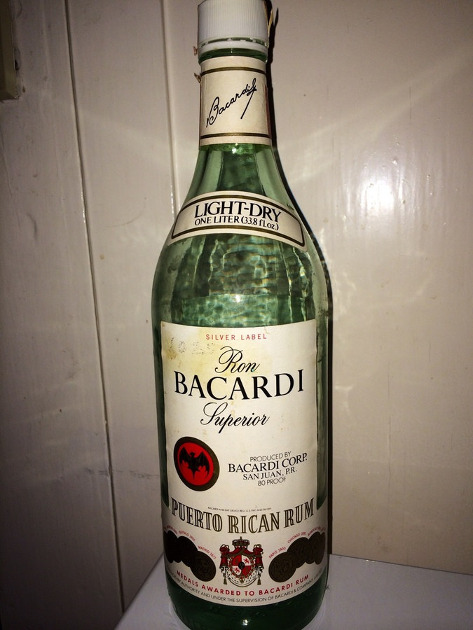 I Found A Bottle Of Ron Superior Bacardi Silver Label 80 ...