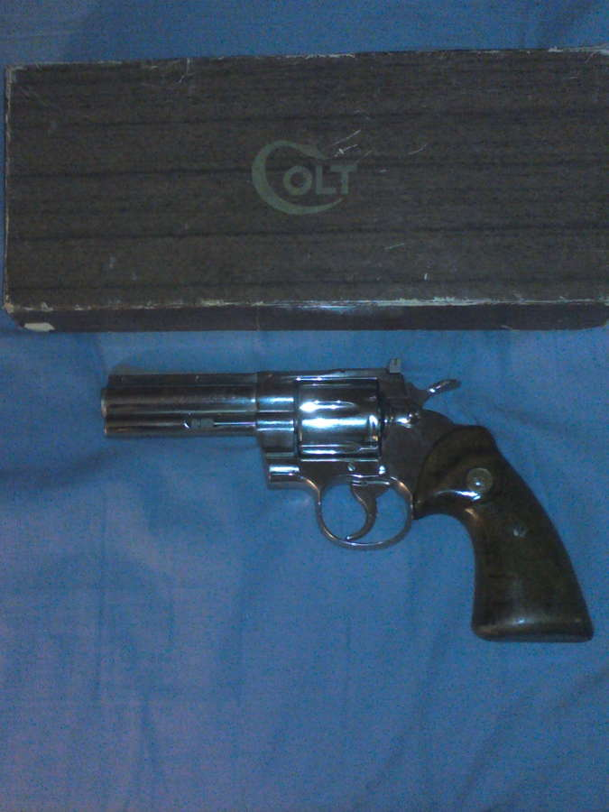 Beautiful 1964 Nickel Plated Colt Python 357 Mag 1 Owner, Birmingham
