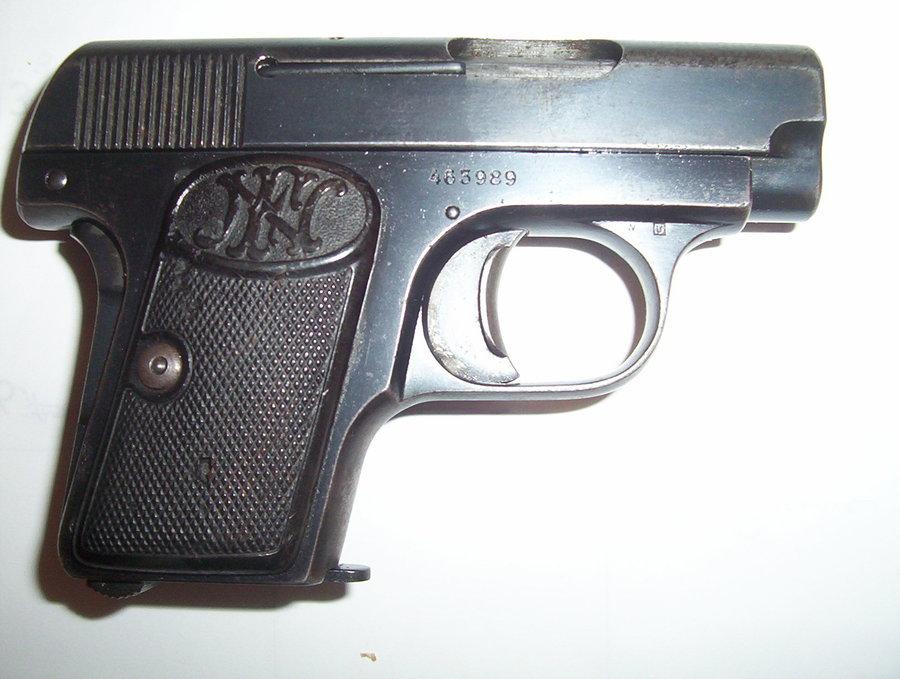 i have a 1906 fn browning version 3 vest pocket 25 caliber pistol my