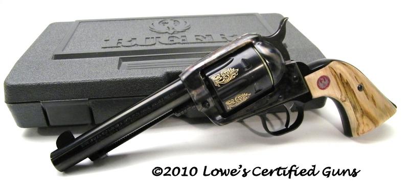 Engraved Vaquero With Custom Grips   Gun Values Board