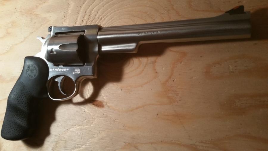 hi i have a ruger redhawk ss 7 5 44 magnum revolver black hogue