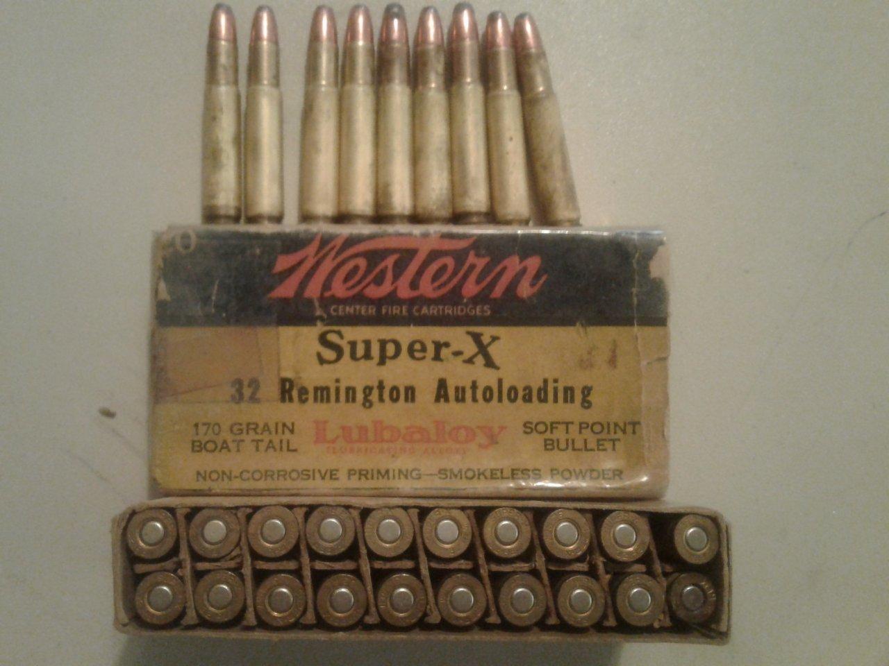29 Rounds Of Remington 32 Auto Loader | Gun Values Board