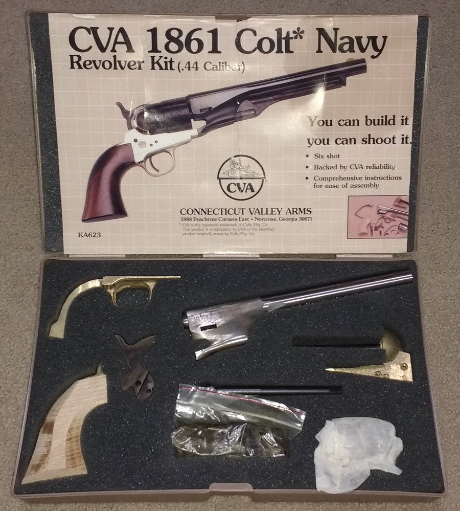 CVA 1861 Colt Navy  44 Cal Revolver Kit | Gun Values Board