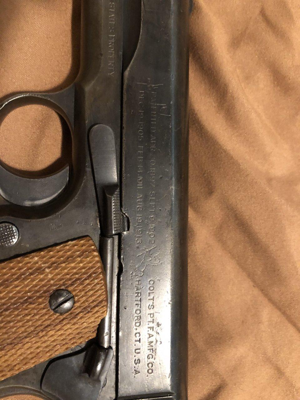 Colt Model 1911 Mfg 1918 Stamped US Army | Gun Values Board