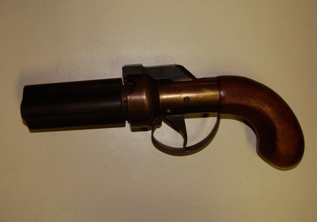 Old 4 Shot  32 Caliber Pepper Box | Gun Values Board