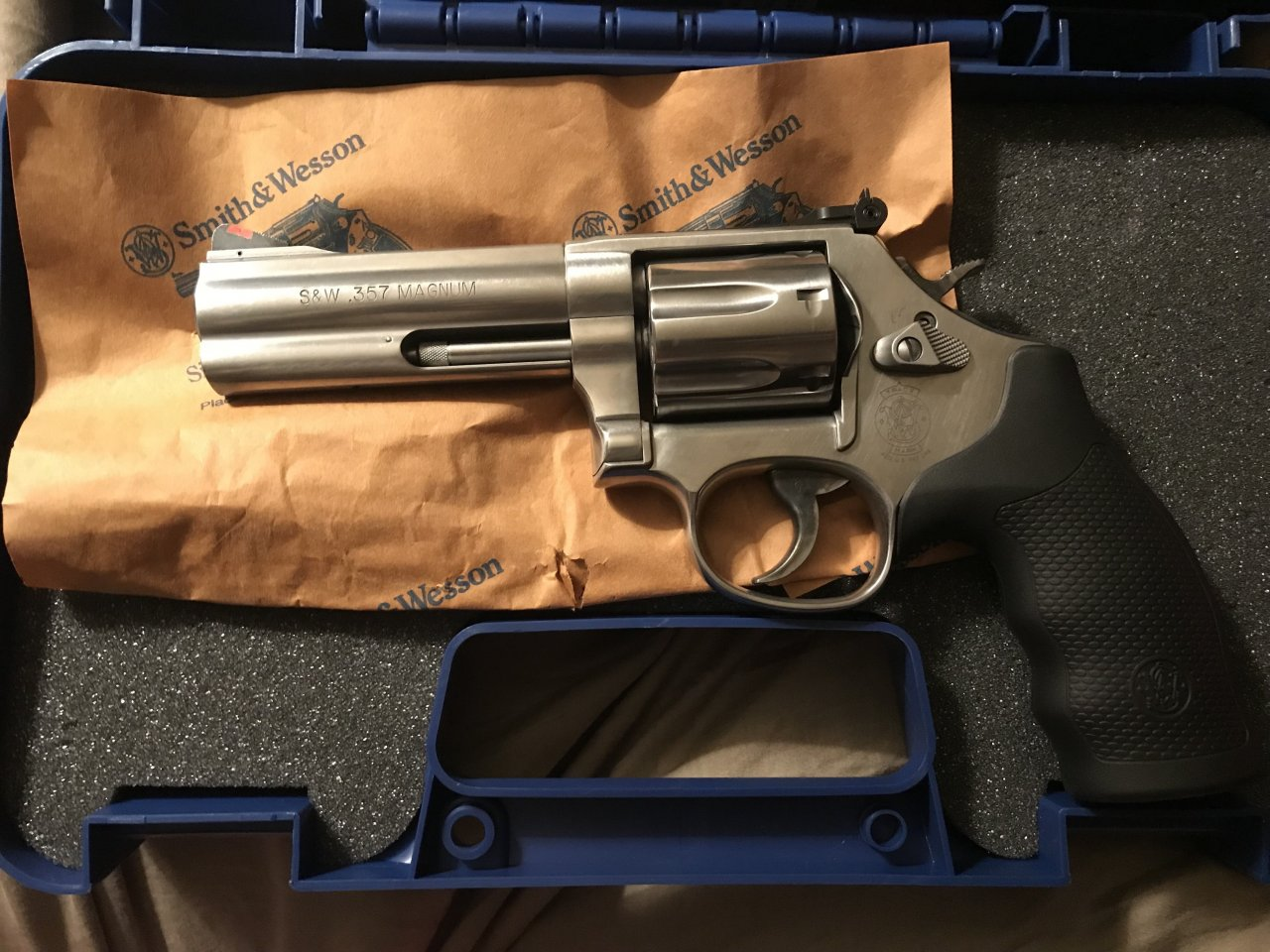 Yes I Have A Smith & Wesson 686 N Frame SS 4â   7 Shot 357
