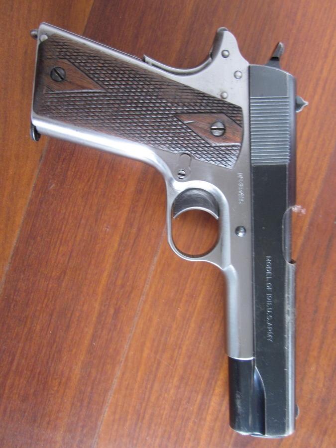 Rare 1917 Colt 1911, Stainless Frame, Black Slide, All