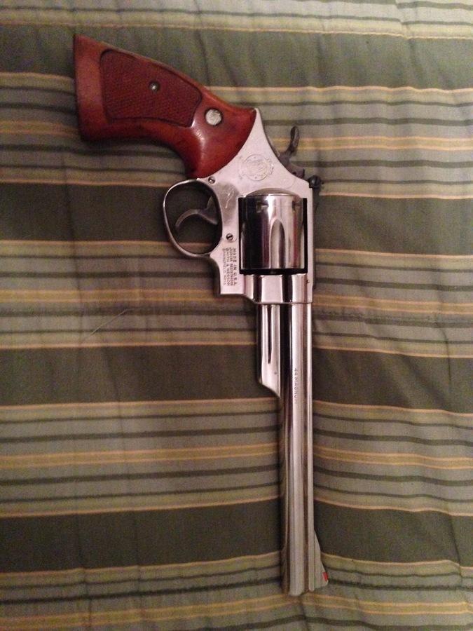 S&W Model 29-2 Nickle 8 3/8 44 Magnum & Holster | Gun