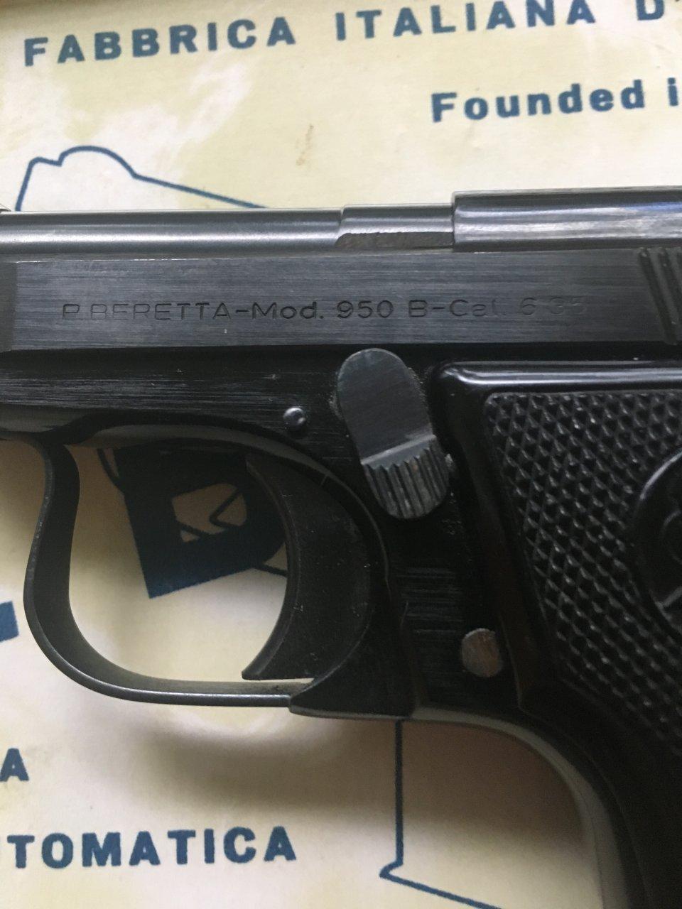 I Have A Beretta 950 With Box   Gun Values Board