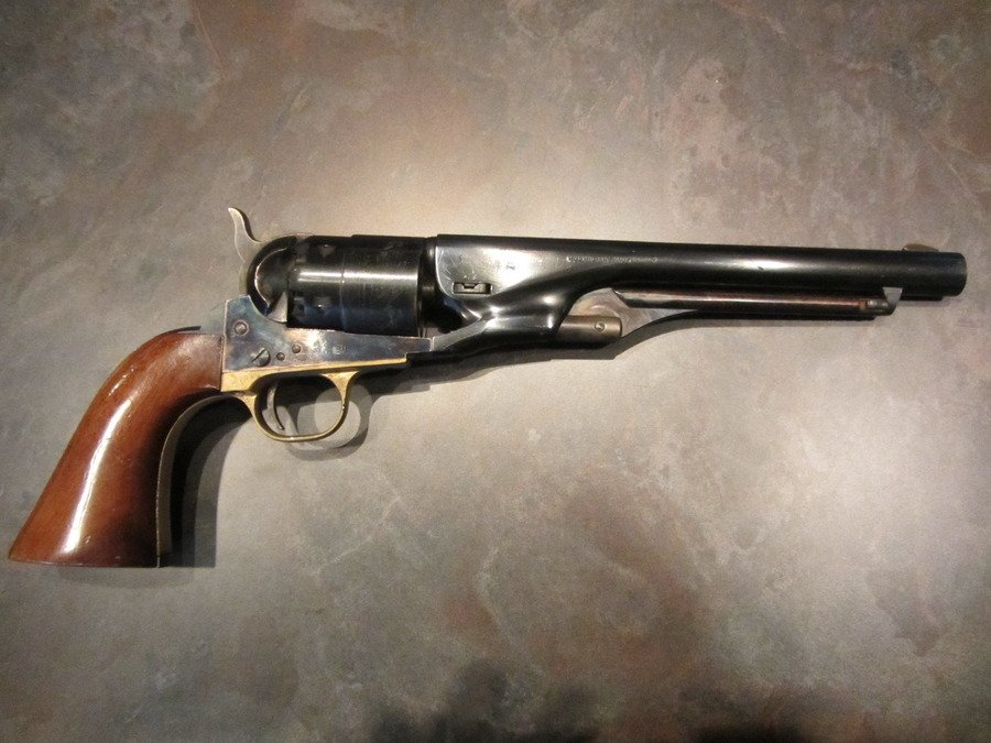 Pietta Replica With Colt 1860 Army 44 Cal Stamp On Barrel