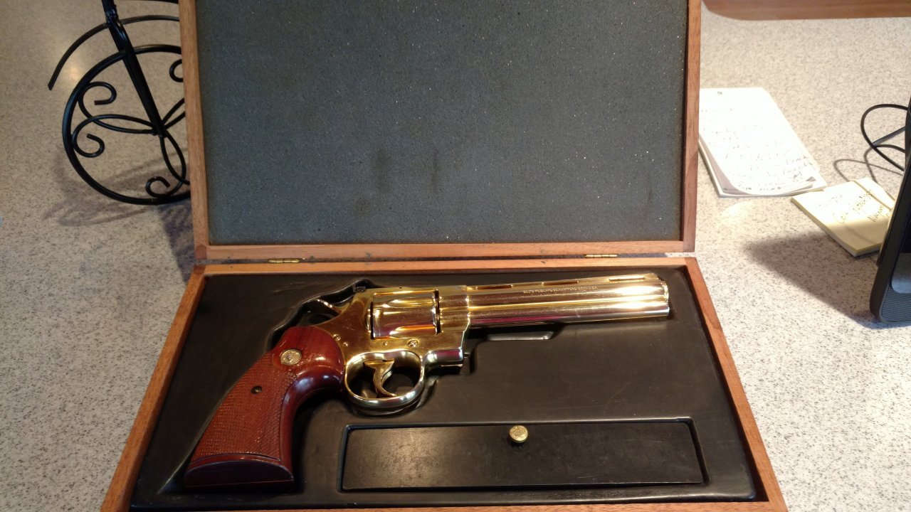 I Was Wondering If Anyone Knows The Value Of My Gold Colt Python 357