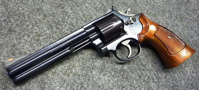 Smith Wesson Model 586 No Dash Distinguished Combat Revolver Greetings A