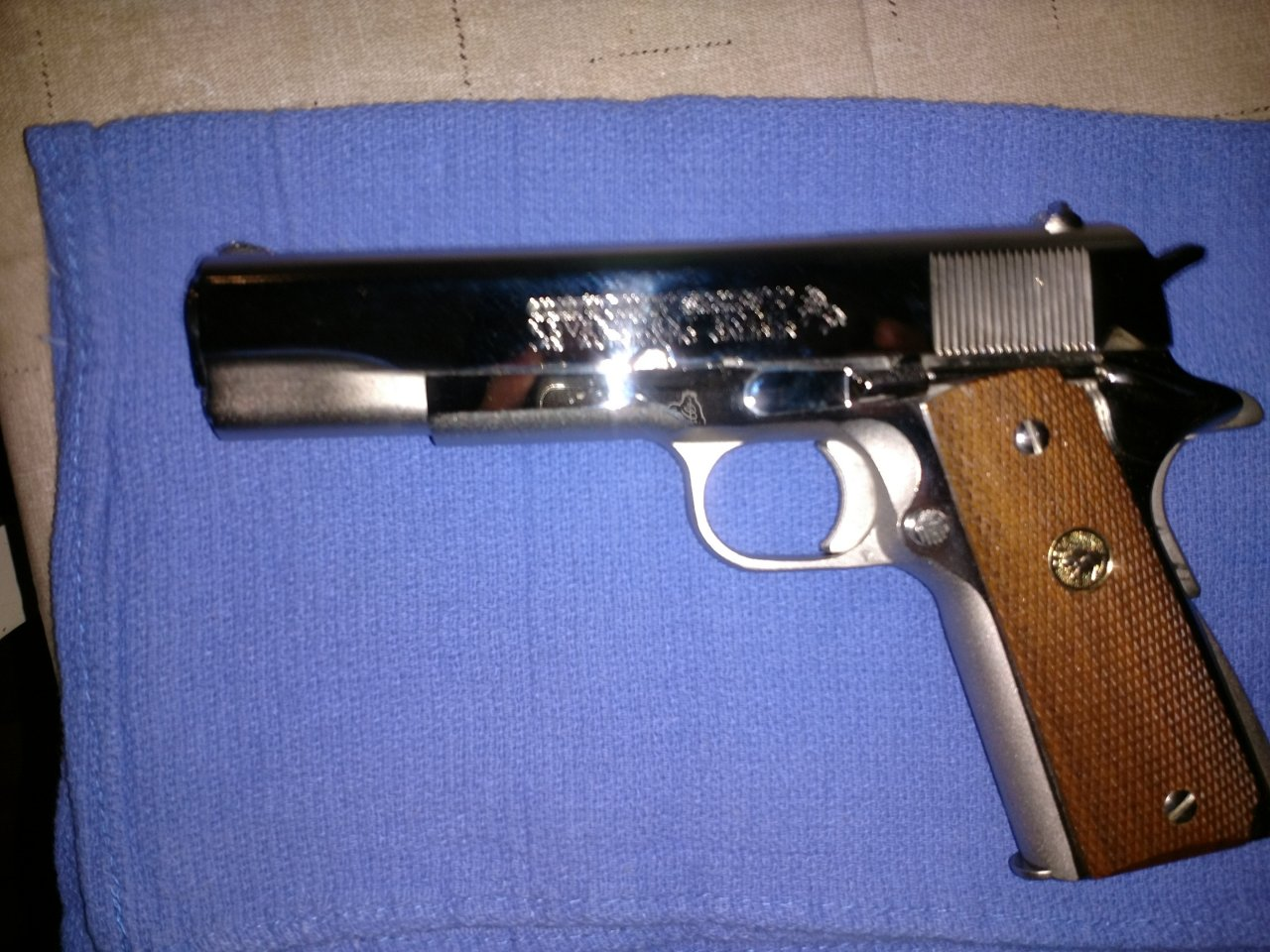 Needing To Find Out Value On My Nickel Plated 1911 Colt 70