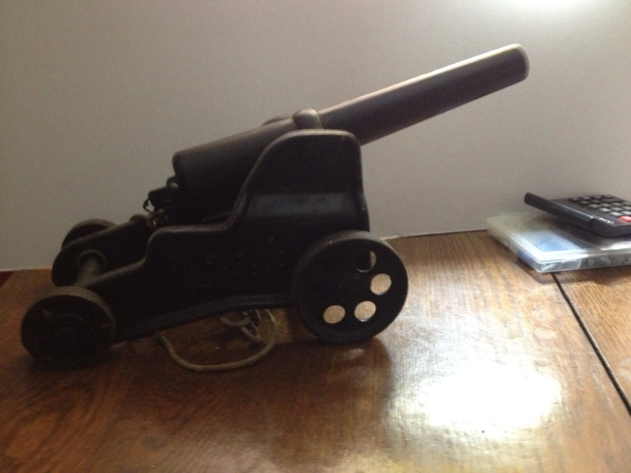 Inherited Winchester Signal Cannon  It Has 4 Wheels Has